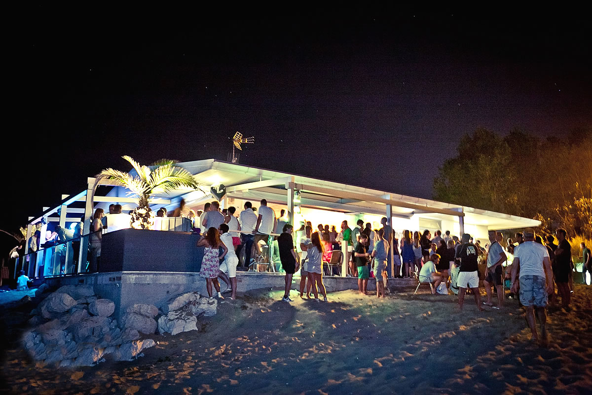Beach party Punta Faro, close to the lighthouse of Lignano