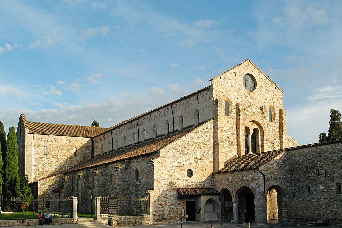 Aquileia view of the Roman church