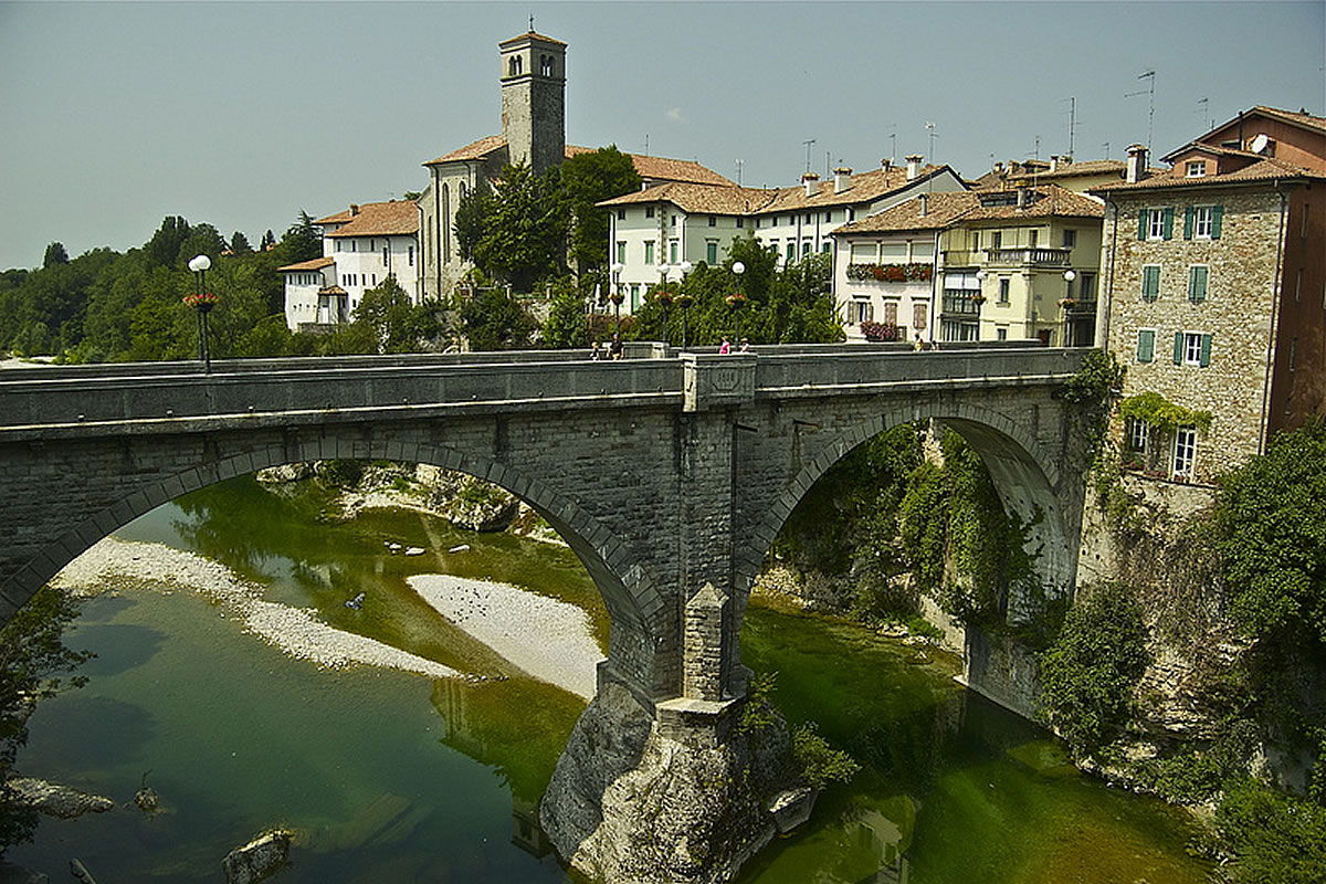 Cividale view of the city - ponte del Diavolo, Devil's Bridge