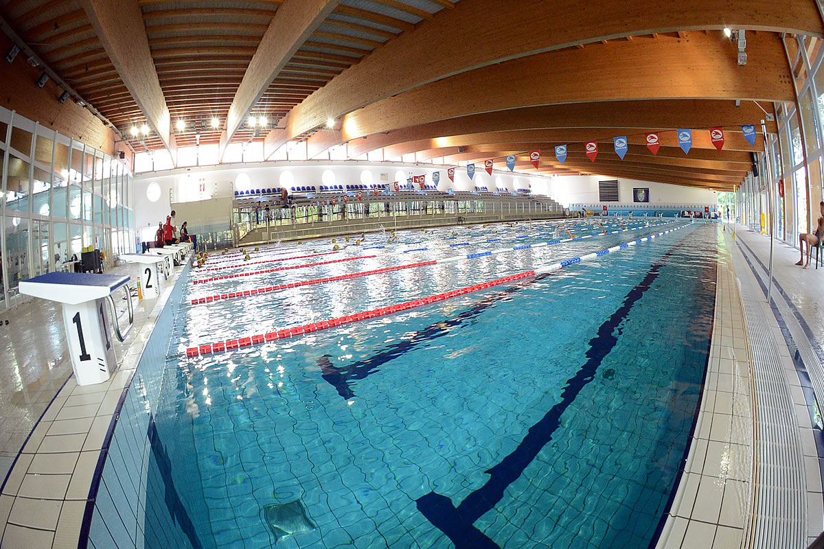 Schwimming school and pool in Lignano