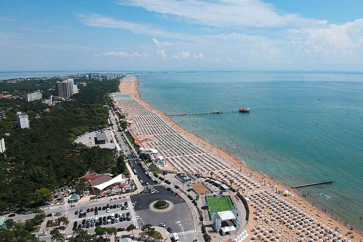 Beach zone of Lignano Pineta