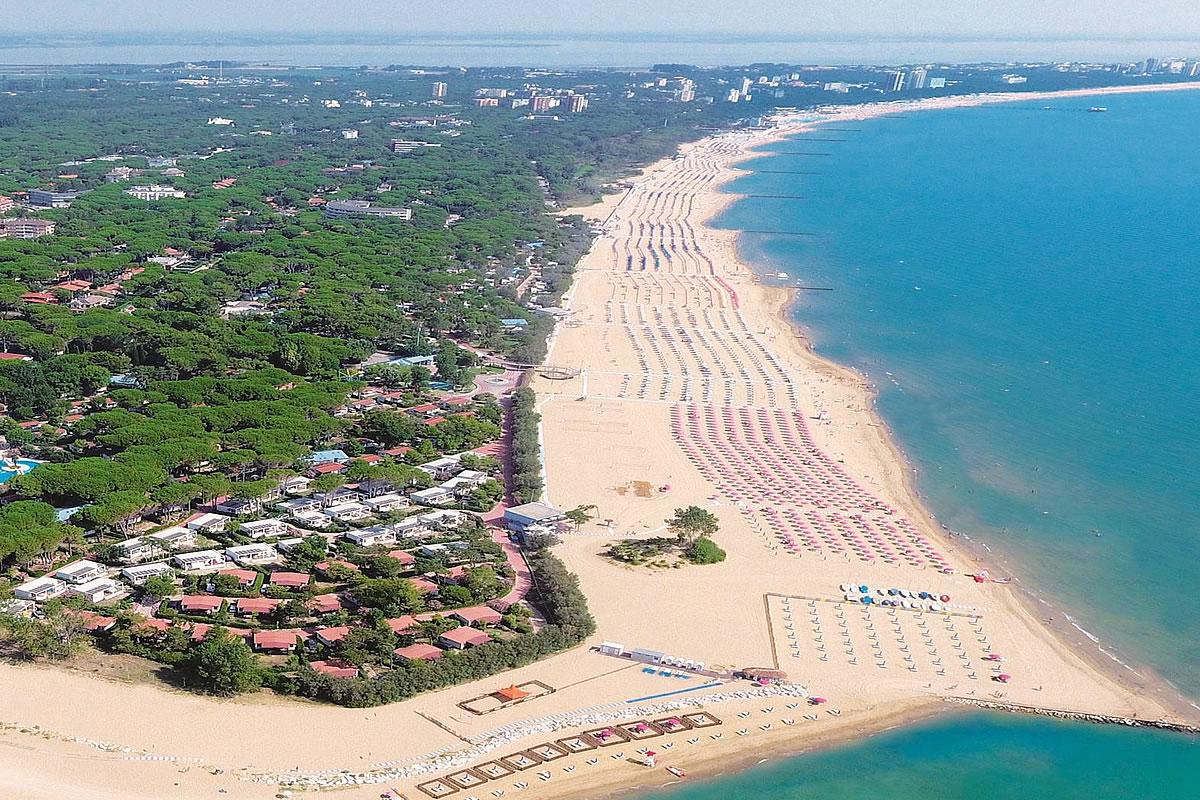 Beach zone of Lignano Riviera
