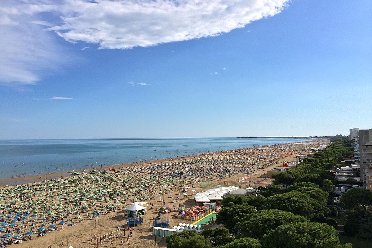 Beach zone of Lignano Sabbiadoro